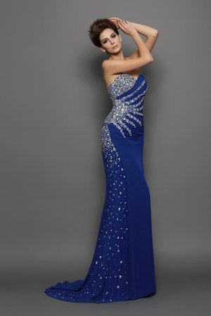 Sleeveless Mermaid Chiffon Long Sweetheart Prom Dress