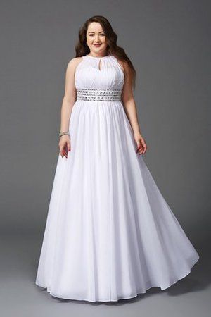 Jewel Long Sleeveless Princess Empire Waist Prom Dress