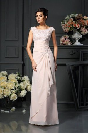 Zipper Up A-Line Lace Long Mother Of The Bride Dress