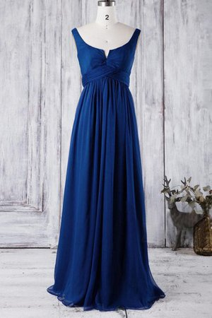Notched Scoop Sweep Train Simple Empire Waist Bridesmaid Dress