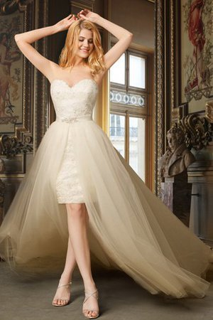 Beading Lace Fabric Chapel Train Strapless Sleeveless Wedding Dress