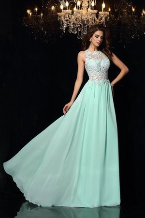 Long Empire Waist Sweep Train Princess Appliques Prom Dress
