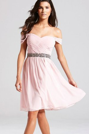 Sashes Off The Shoulder A-Line Beading Party Dress