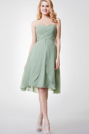 Backless Criss-Cross Knee Length Chic & Modern Bridesmaid Dress