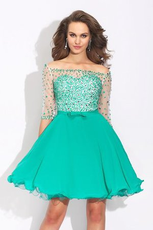 Princess Short Beading Chiffon Zipper Up Cocktail Dress