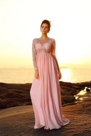 Princess Empire Waist Long Sleeves Sweep Train Long Prom Dress