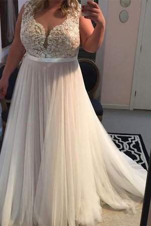 Wide Straps Sleeveless Sweep Train Princess Prom Dress