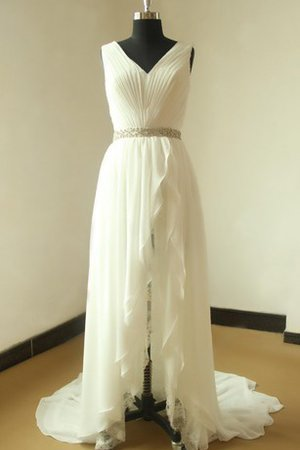 Floor Length Lace Simple Beading Sleeveless Wedding Dress