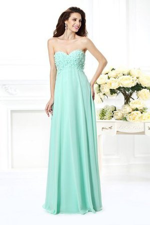 Chiffon Natural Waist A-Line Floor Length Bridesmaid Dress