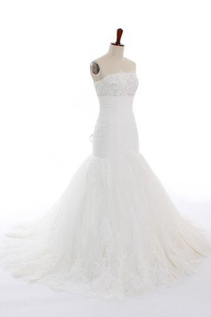 Court Train Organza Tulle Appliques Long Wedding Dress
