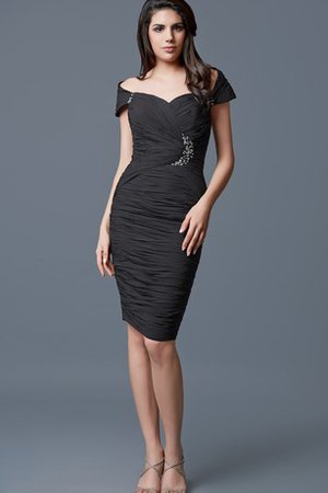 Sleeveless Off The Shoulder Formal Natural Waist Sheath Evening Dress