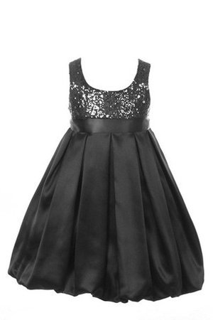 A-Line Scoop Sleeveless Empire Waist Taffeta Flower Girl Dress