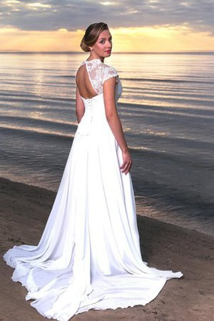 Sweep Train Lace-up Chic & Modern Beach Sashes Wedding Dress