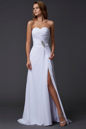 Chiffon Empire Waist A-Line Sweep Train Long Prom Dress