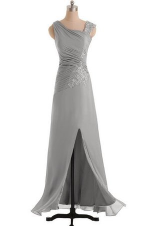 Elegant & Luxurious Chiffon Zipper Up Floor Length Appliques Bridesmaid Dress