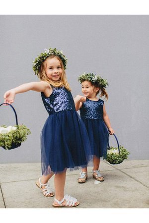 Sequined Sexy Short Flowers Jewel Flower Girl Dress