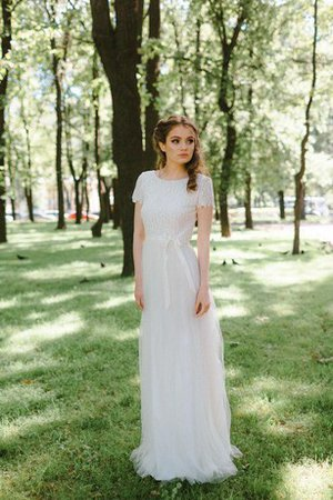 Lace Fabric Chic & Modern Jewel Informal & Casual Wedding Dress
