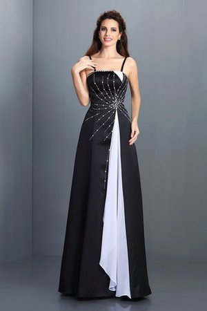 Long Floor Length A-Line Spaghetti Straps Evening Dress