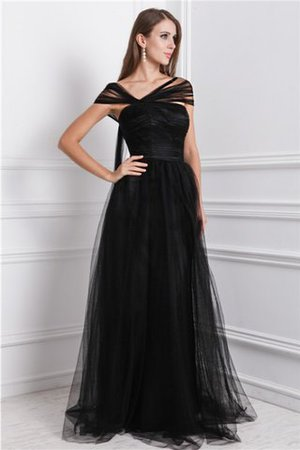 Sleeveless Long Bateau Princess Natural Waist Evening Dress