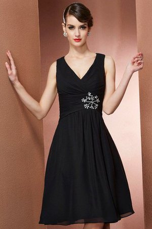 Chiffon Natural Waist Knee Length A-Line Bridesmaid Dress