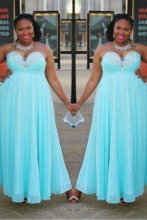 A-Line Floor Length Sleeveless Sweetheart Natural Waist Prom Dress