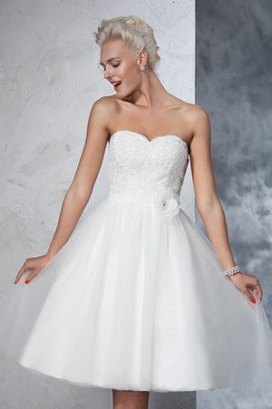 Zipper Up Short Natural Waist Sleeveless Sweetheart Wedding Dress