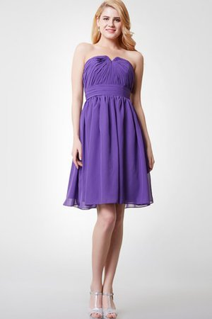 Romantic Sleeveless Notched Knee Length Ruched Bridesmaid Dress