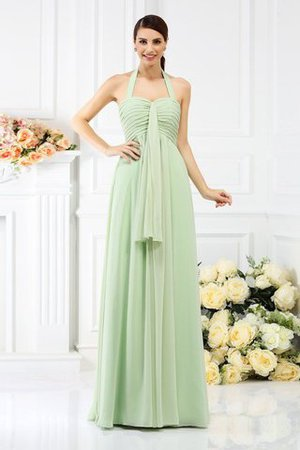 Zipper Up Chiffon Sleeveless Princess Draped Bridesmaid Dress
