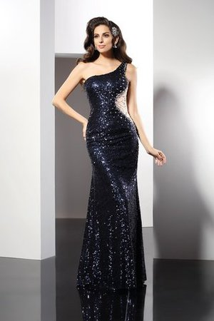 Long Sleeveless Floor Length One Shoulder Sheath Evening Dress