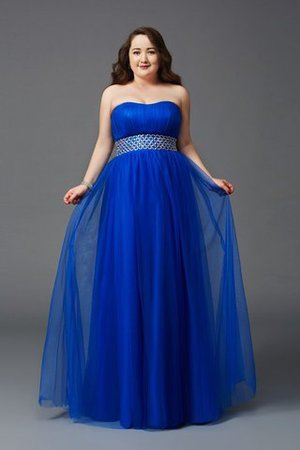 Zipper Up Plus Size Floor Length Princess Strapless Prom Dress