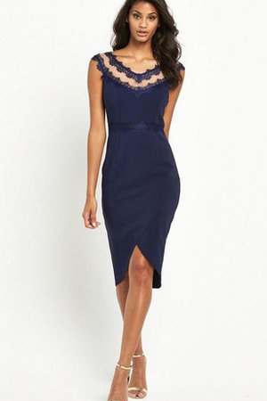 Appliques Elegant & Luxurious Zipper Up Informal & Casual Split Front Bridesmaid Dress