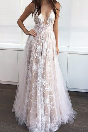 A-Line Sleeveless Vintage Romantic Floor Length Prom Dress