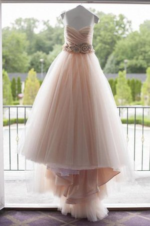 Pleated Sleeveless Elegant & Luxurious Strapless Beading Wedding Dress