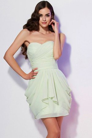 Chiffon A-Line Sleeveless Short Sweetheart Bridesmaid Dress