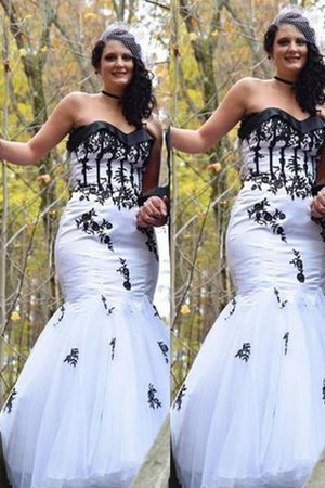 Plus Size Sweetheart Natural Waist Floor Length Mermaid Prom Dress