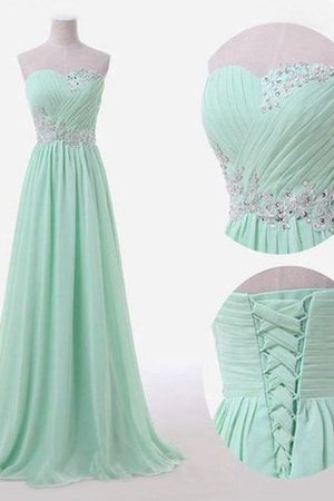 Floor Length Sleeveless Sweetheart Chiffon Empire Waist Bridesmaid Dress