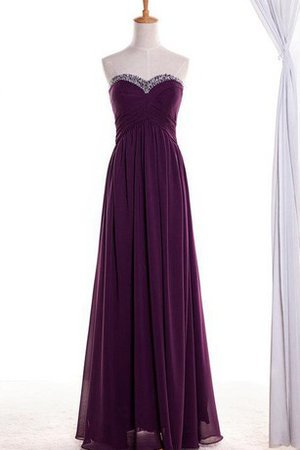A-Line Beading Chiffon Zipper Up Sweetheart Prom Dress
