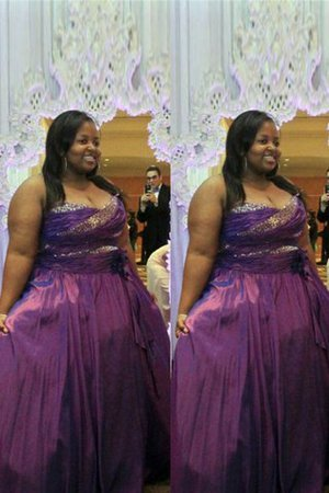 Floor Length A-Line Satin Plus Size Prom Dress