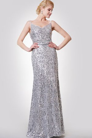 Sleeveless V-Neck Simple Long Floor Length Evening Dress