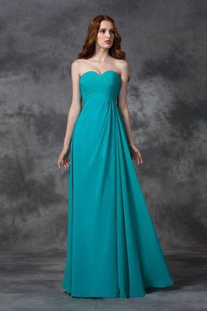 Chiffon Empire Waist Zipper Up A-Line Long Bridesmaid Dress