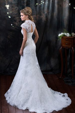 Appliques Lace Capped Sleeves Long Short Sleeves Wedding Dress
