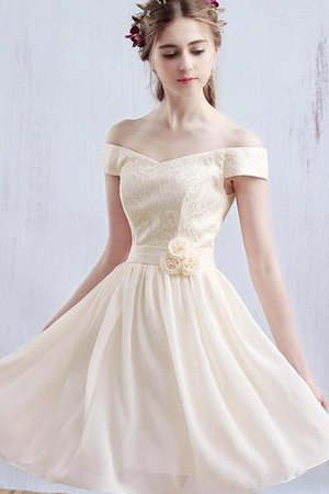 Sashes Off The Shoulder Chiffon Embroidery Party Dress