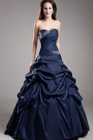 Beading Taffeta A-Line Ruched Quinceanera Dress