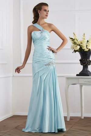 Ruched Lace-up Mermaid Empire Waist One Shoulder Prom Dress