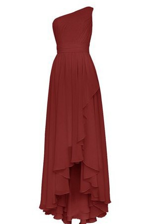 Ruffles Elegant & Luxurious Draped Tea Length Bridesmaid Dress