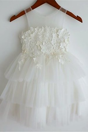 Lace Empire Waist Wide Straps A-Line Flower Girl Dress
