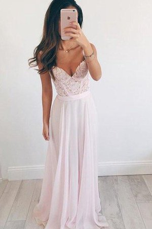Spaghetti Straps Lace Simple Elegant & Luxurious Sleeveless Prom Dress