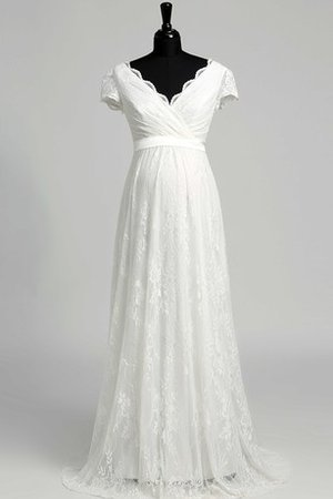 Beach Capped Sleeves Maternity Sashes Chic & Modern Wedding Dress
