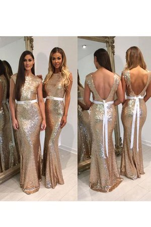 Sequins Long Capped Sleeves Short Sleeves Mermaid Prom Dress