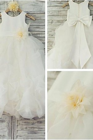Organza Scoop Ball Gown Sleeveless Floor Length Flower Girl Dress